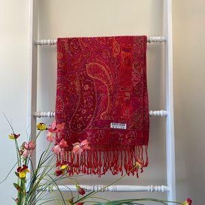 Pashmina cashmere silk scarf shawl wrap floral